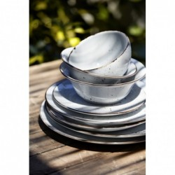 Dots White - zastawa stołowa - porcelana Porvasal