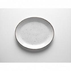 DOTS WHITE Półmisek owalny 31 cm