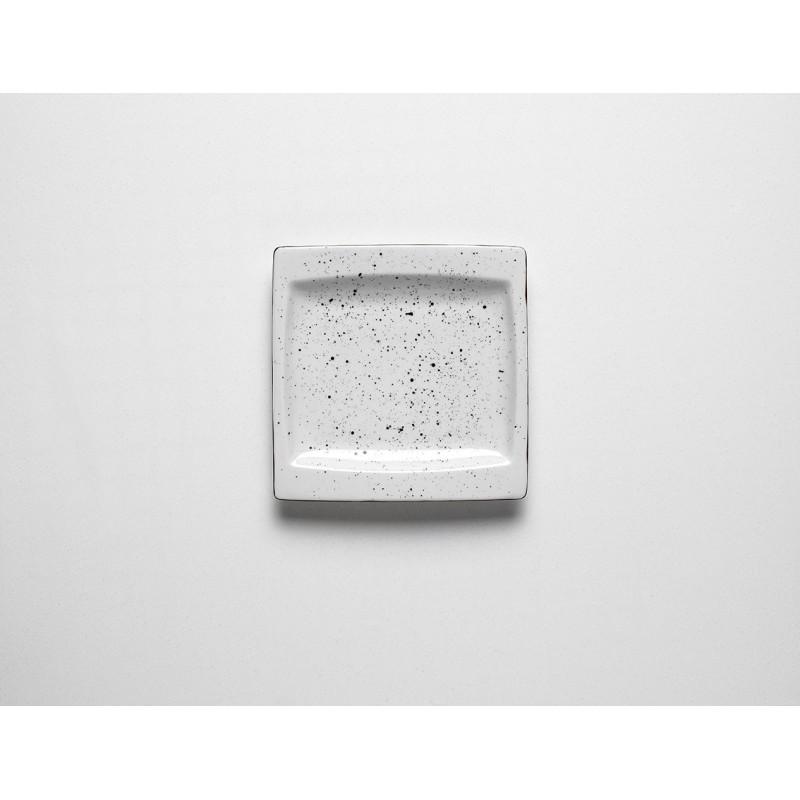 DOTS WHITYE Talerz kwadratowy 18 cm