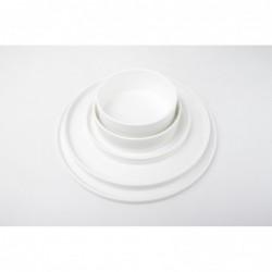 CHIC VERSO WHITE Talerz płaski sztaplowany 31 cm