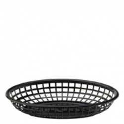 UTOPIA Koszyk owalny czarny 23x15,5 cm