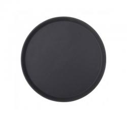 UTOPIA Taca okrągła antypoślizgowa czarna 35 cm