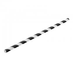 UTOPIA Słomki papierowe czarno białe (250 szt.)