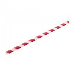 UTOPIA Słomki papierowe czerwono-białe 20 cm (250 szt.)