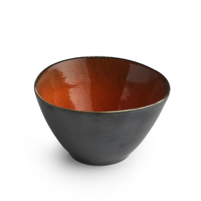 CHIC Miseczka pomarańczowo-czarna 14 cm