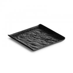 LIVELLI Talerz kwadratowy czarny 15x15 cm
