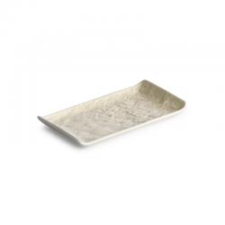 LIVELLI Półmisek prostokątny beżowy 15x8 cm