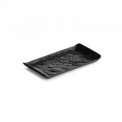 LIVELLI Półmisek prostokątny czarny 15x8 cm