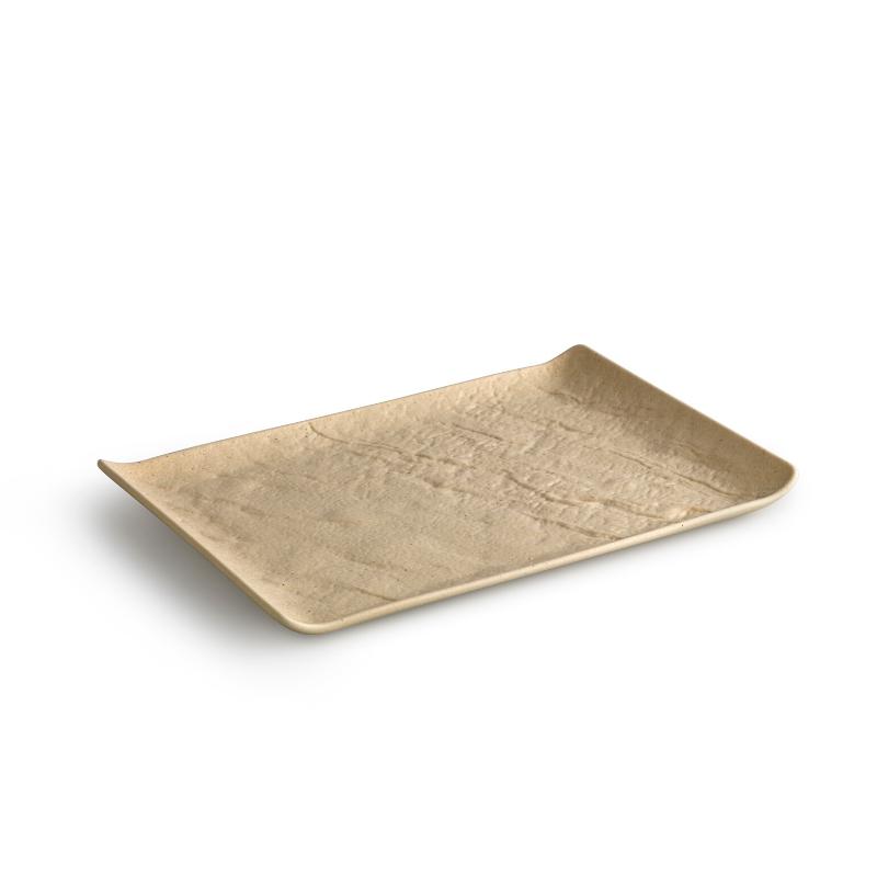 LIVELLI Półmisek prostokątny beżowy 30x21 cm