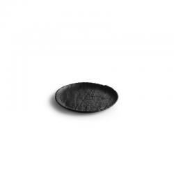 LIVELLI Talerz płaski czarny 16 cm