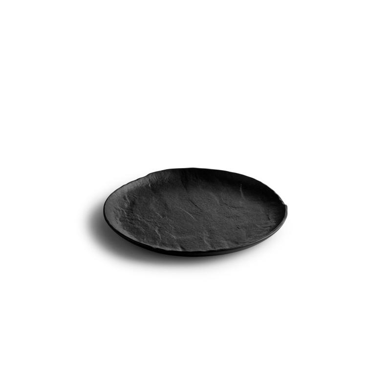 LIVELLI Talerz płaski czarny 21 cm