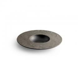 LIVELLI Talerz okrągły z szerokim rantem czarny 20 cm