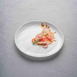 CHIC LIVELLI WHITE Talerz płaski 16 cm