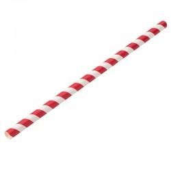 UTOPIA Papierowe słomki Jumbo czerwono - białe 23 cm 8 mm (250 szt.)