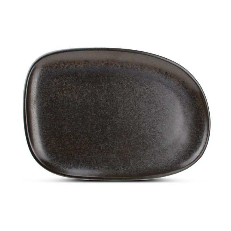 F2D CERES BLACK Talerz płaski 33X23 cm