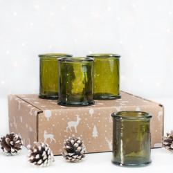 Zestaw świąteczny 4x świecznik Authentico Green