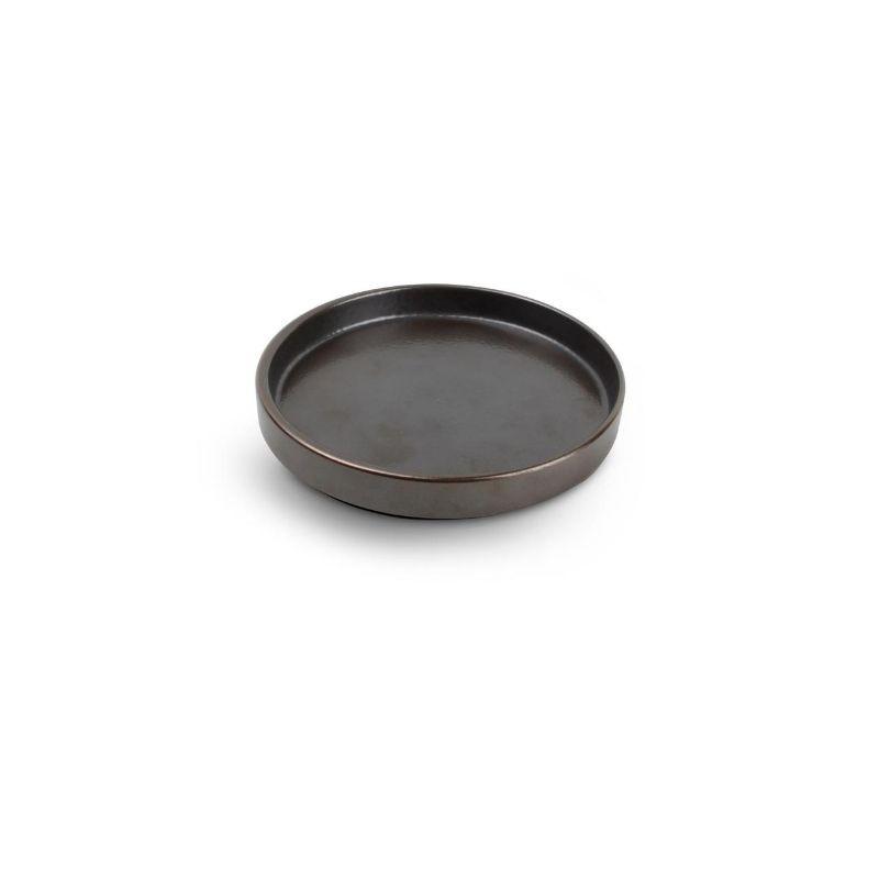 CHIC VERSO BLACK BROWN Talerz płaski sztaplowany 14 cm