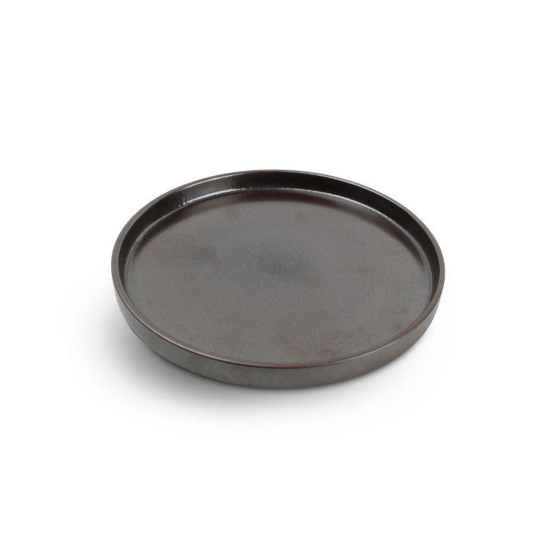 CHIC VERSO BLACK BROWN Talerz płaski sztaplowany 20 cm