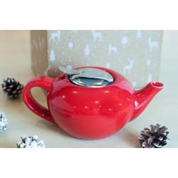 Zestaw świąteczny - Dzbanek do herbaty 0,75l czerwony