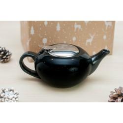 Zestaw świąteczny - Dzbanek do herbaty 0,5l czarny