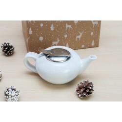 Zestaw świąteczny - Dzbanek do herbaty 0,5l biały
