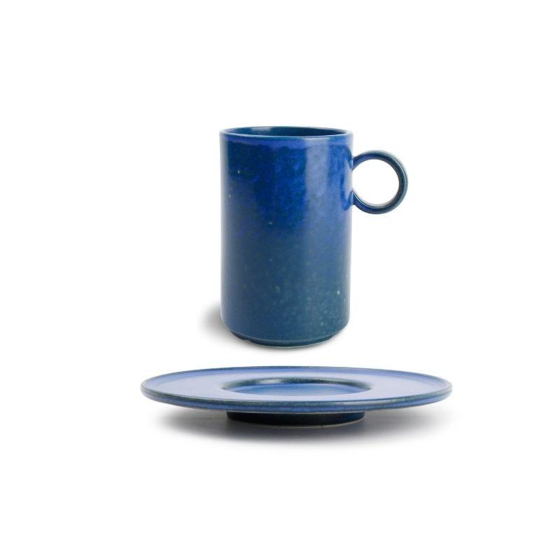 CHIC VERSO BLUE Kubek sztaplowany 360 ml ze spodkiem
