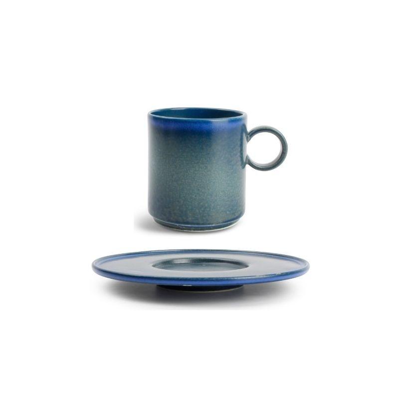 CHIC VERSO BLUE Filiżanka sztaplowana 240 ml ze spodkiem
