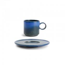 CHIC VERSO BLUE Filiżanka sztaplowana 170 ml ze spodkiem