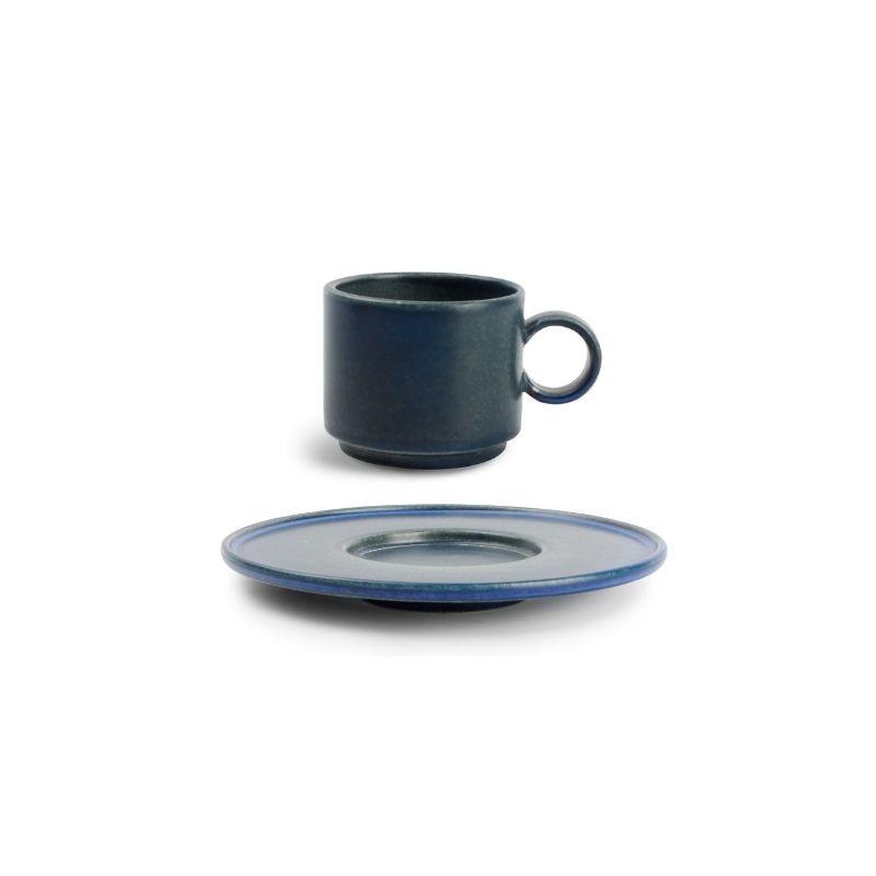 CHIC VERSO BLUE Filiżanka sztaplowana 90 ml ze spodkiem