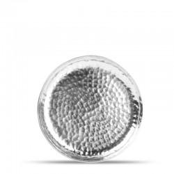 F2D BRASS METAL SILVER Talerz płaski 12 cm