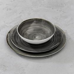 RUSTICO GREY Komplet porcelany dla 4 osób