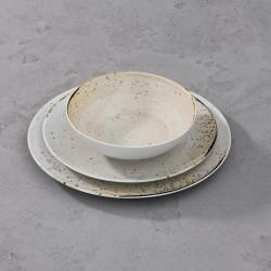 RUSTICO WHITE Komplet porcelany dla 4 osób x 3 elementy