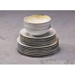 RUSTICO WHITE Komplet porcelany dla 6 osób x 3 elementy