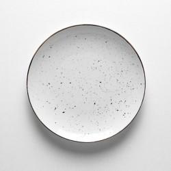 DOTS WHITE Talerz płaski 26 cm