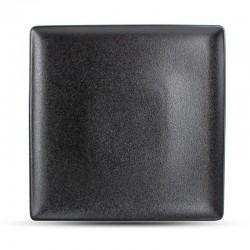 DUSK BLACK Talerz płaski kwadratowy 26 cm