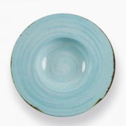 RUSTICO BLUE Talerz do pasty z szerokim rantem 29 cm