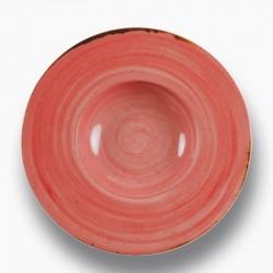 RUSTICO RED Talerz do pasty z szerokim rantem 29 cm