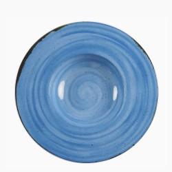 RUSTICO DARK BLUE Talerz do pasty z szerokim rantem 29 cm