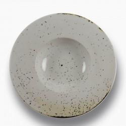 RUSTICO WHITE Talerz do pasty z szerokim rantem 29 cm