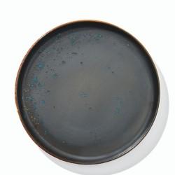 QUALITAT OXIDUM BLUE Talerz płaski z rantem 27 cm